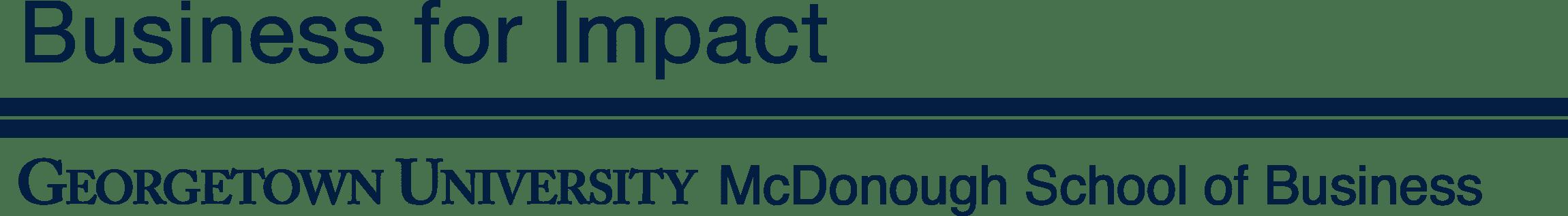 Georgetown University McDonough School of Business Logo