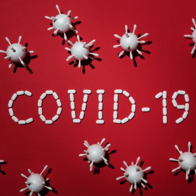 Stock image of a illustration of COVID-19