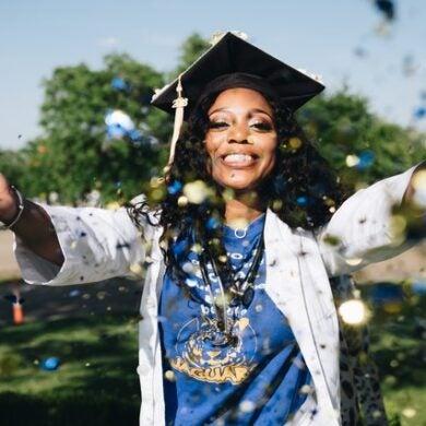 Stock image of graduation