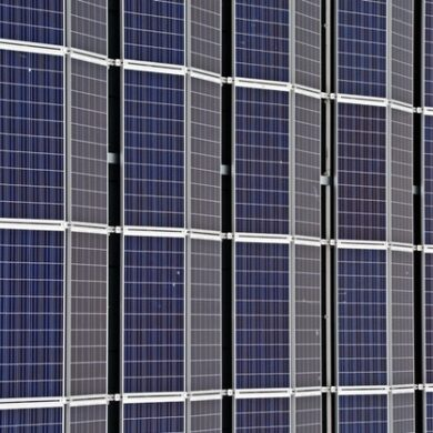 Stock image of solar panels