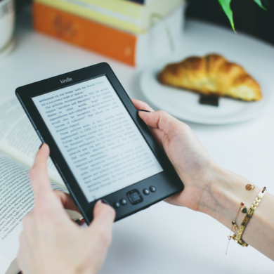 Stock Image of a Kindle