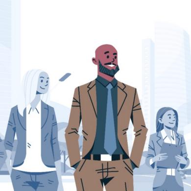 Cartoon image of business leaders
