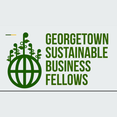 Image of Georgetown Sustainable Business Fellows graphic